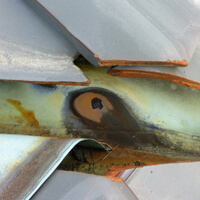 屋根板金の劣化画像